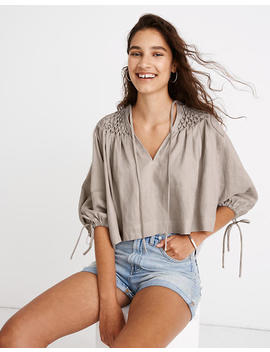 Innika Choo Hope Filthorts Smocked Top by Madewell