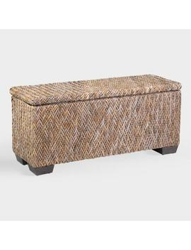 Rattan Simone Bench With Shoe Storage by World Market