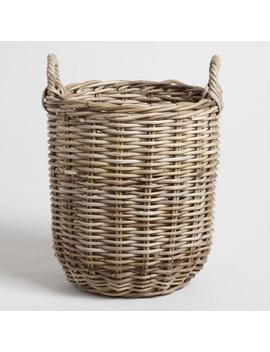 Medium Natural Kubu Celeste Tote Basket by World Market