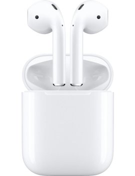 Geek Squad Certified Refurbished Air Pods With Charging Case (Latest Model)   White by Apple