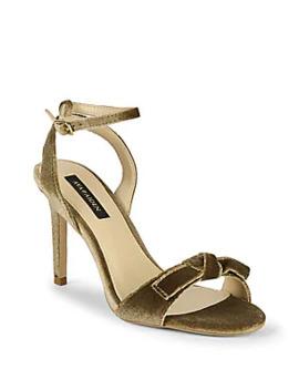 Charlee Velvet Bow Slingback High Heel Sandals by Ava & Aiden