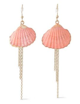 Gold Tone Painted Earrings by Kenneth Jay Lane