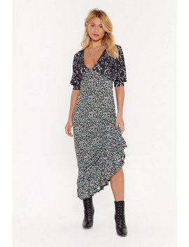 You'll Thank V Later Star Floral Maxi Dress by Nasty Gal