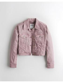 Crop Stretch Denim Jacket by Hollister