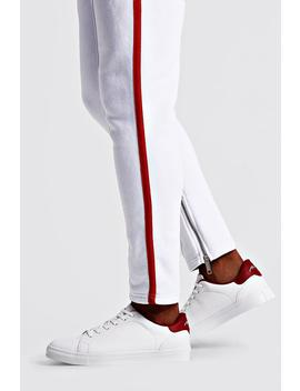 Lace Up Trainer With Back Tab by Boohoo