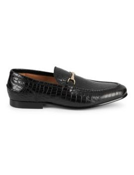 Embossed Leather Loafers by Saks Fifth Avenue