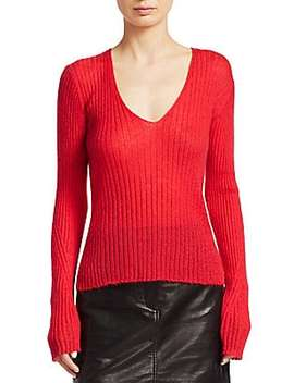 Donna Rib Knit V Neck Sweater by Rag & Bone
