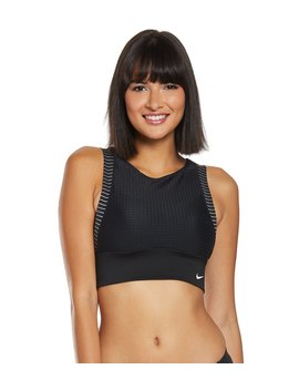 Nike Sport Mesh Convertible Layered High Neck Midkini Top by Undefined