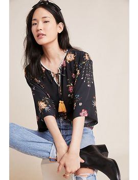 Farm Rio For Anthropologie Titania Peasant Blouse by Farm Rio