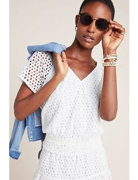 Frye X Anthropologie Talia Eyelet Blouse by Frye