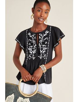 Alexandrine Embroidered Blouse by Anthropologie
