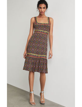 Printed Square Neck Dress by Bcbgmaxazria