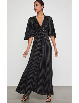 Tie Front Striped Maxi Dress by Bcbgmaxazria