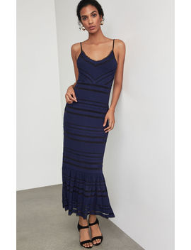 Fringe Trimmed Maxi Dress by Bcbgmaxazria