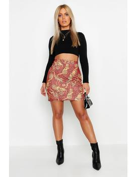 Plus Animal Chain Print Mini Skirt by Boohoo