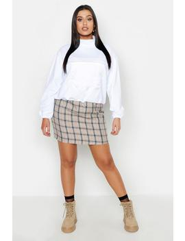 Plus High Neck Pocket Front Sweat by Boohoo