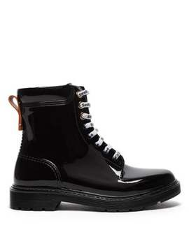 Leather Trim Pvc Rain Boots by See By Chloé