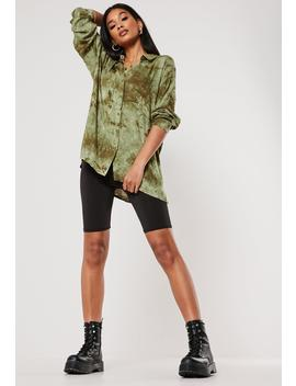 Green Tie Dye Oversized Shirt by Missguided