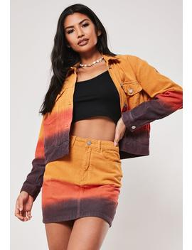 Orange Ombre Dye Co Ord Mini Skirt by Missguided