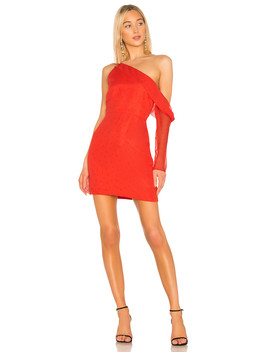 Asymmetrical Sleeve Mini Dress by Michelle Mason