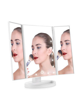 Easehold Tri Fold Touch Makeup Vanity Mirror With Lights Stand 1 X2 X3 X Magnifyi<Wbr>Ng by Easehold