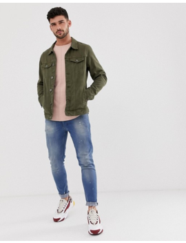 Pull&Amp;Bear Denim Jacket In Green by Pull&Bear