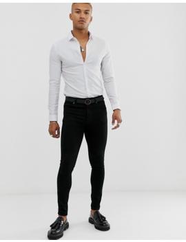 Asos Design Skinny Fit Shirt In White by Asos Design