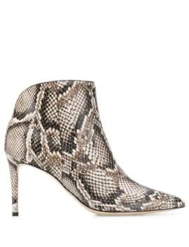 Tysha Snakeskin Effect Boots by Giuseppe Zanotti
