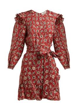 Telicia Floral Print Linen Mini Dress by Isabel Marant Étoile