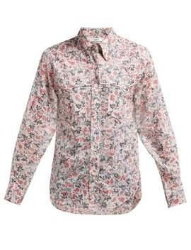 Emelina Leaf Print Cotton Shirt by Isabel Marant Étoile