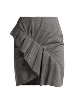 Nel Ruffled Wool Mini Skirt by Isabel Marant Étoile