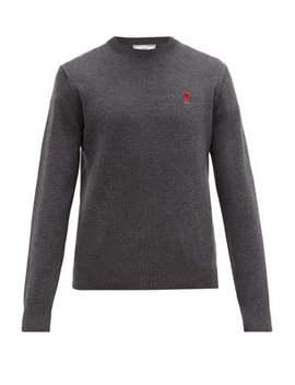 Logo Appliquéd Merino Wool Sweater by Ami