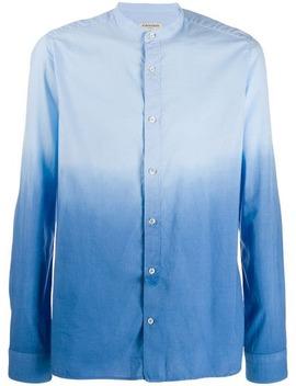 Ombré Mandarin Collar Shirt by Al Duca D'aosta 1902