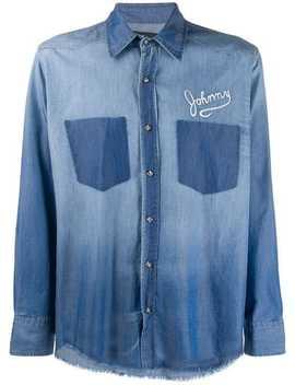 Frayed Hem Denim Shirt by John Richmond