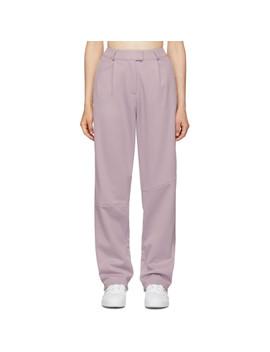 purple-piqué-trousers by adidas-originals-by-daniËlle-cathari