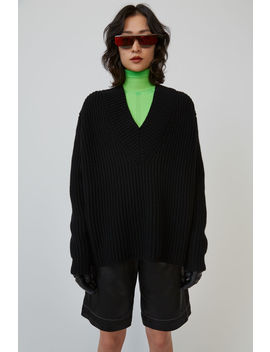 Chunky Ribbed Sweater Black by Acne Studios