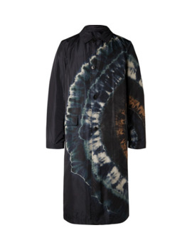Reversible Tie Dyed Shell Trench Coat by Dries Van Noten