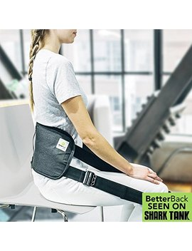 Better Back   #1 Lower Back Support Posture Belt | As Seen On Shark Tank Usa | Improves Posture & Eases Lower Back Pain While You Sit (Use For Just 15 Mins A Day) |For Men & Women|Doctor Recommended by Better Back