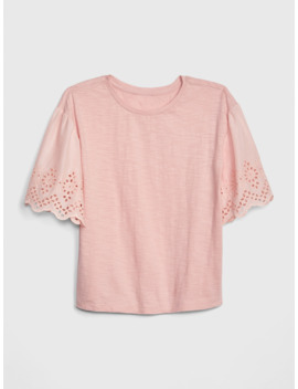 Kids Eyelet Top by Gap