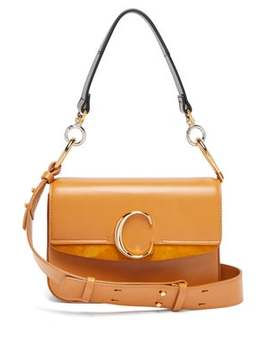 The C Leather Shoulder Bag by Chloé
