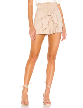 Knot Front Paper Bag Short by Bcb Generation
