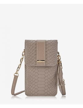 Penny Phone Crossbody Bag by Stone Embossed Python