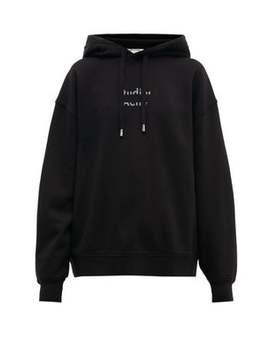 Broken Logo Cotton Hooded Sweatshirt by Acne Studios