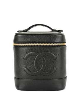 Cc Logos Cosmetic Vanity Hand Bag by Chanel Pre Owned