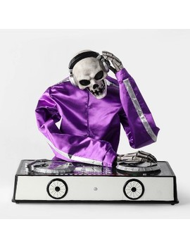 Animated Dj Skeleton Decorative Halloween Prop   Hyde And Eek! Boutique by Hyde And Eek! Boutique