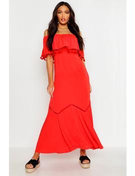 Off The Shoulder Tassel Maxi Dress by Boohoo