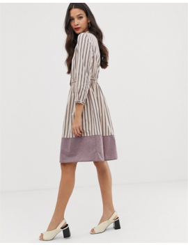 French Connection Long Sleeve Stripe Dress by French Connection