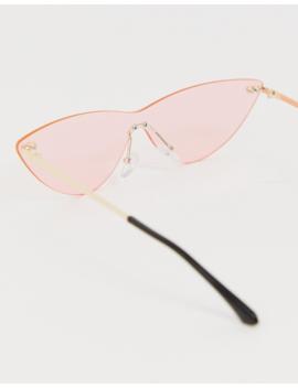 Aj Morgan Visor Sunglasses In Pink by Aj Morgan