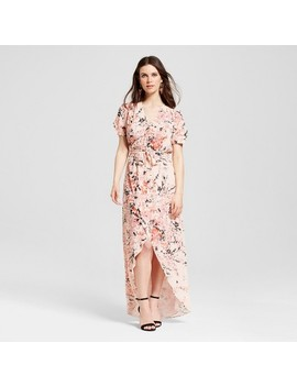 Women's Floral Wrap Maxi Dress   S&Amp;P By Standards And Practices by S&P By Standards And Practices
