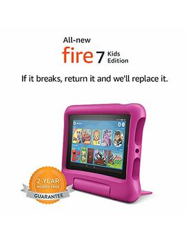 "All New Fire 7 Kids Edition Tablet, 7"" Display, 16 Gb, Pink Kid Proof Case by Amazon"